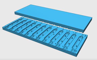 Progetto stampo in alluminio